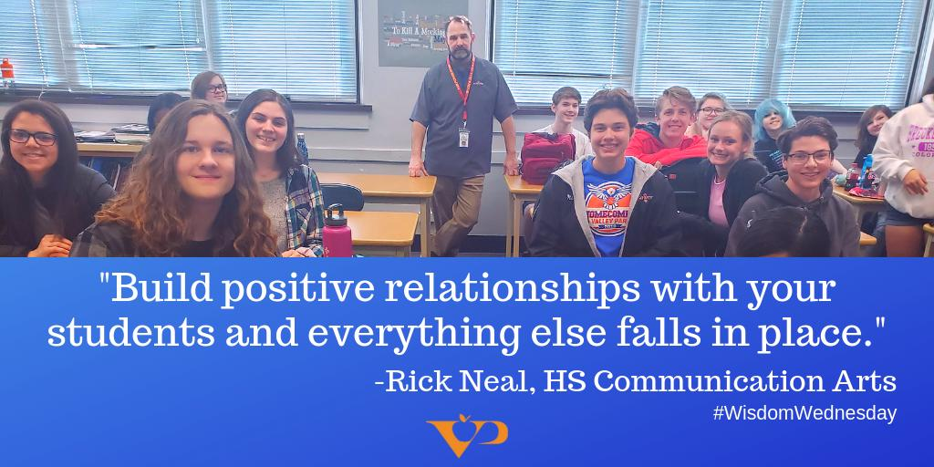 Thanks, Mr. Neal, for the #WisdomWednesday quote and for all you do for our students!