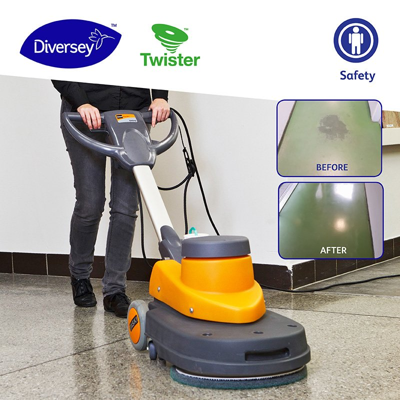 Cleaning without chemicals means simpler cleaning procedures, from preparation to results, for cleaning professionals. #Twister by #Diversey cleans floors with just water yet is able to produce astonishing cleaning results. Learn more: http://ow.ly/2dn150p5t7F #NoChemicals