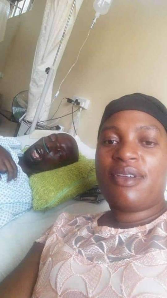 Zambian Woman Takes Selfie With Her Half Dead Husband, Sends It To Her Boyfriend