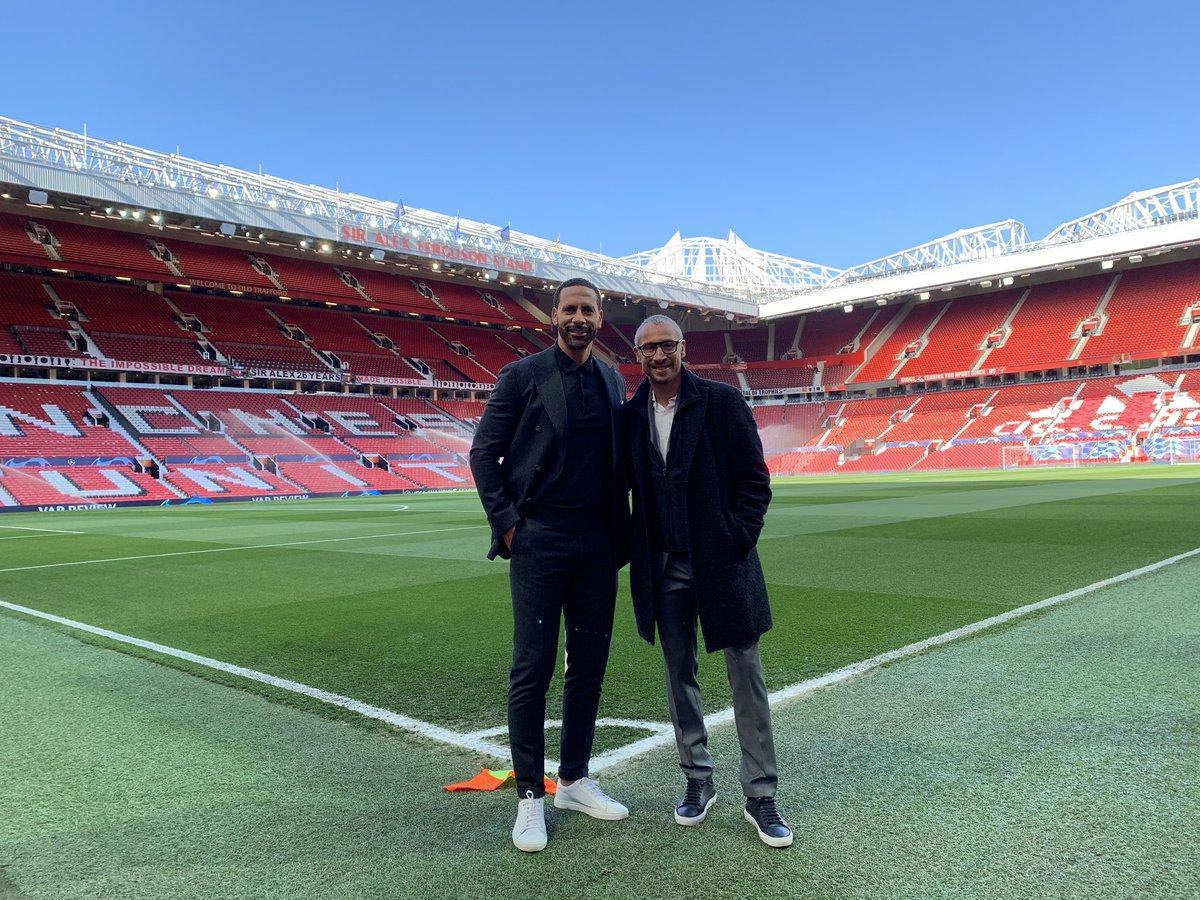 Calm before the storm... back reunited with Henrik Larsson!   @ManUtd vs @FCBarcelona   Come on UNITEDDDDD!!!! ❤️  #UCL #MUFC #BARCA