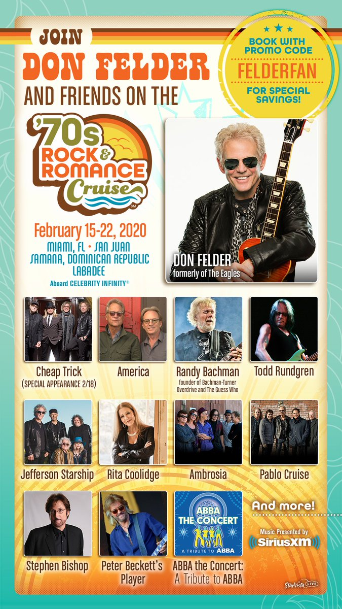 Rock And Romance Cruise 2020.Don Felder On Twitter I M So Excited To Announce That I Ll