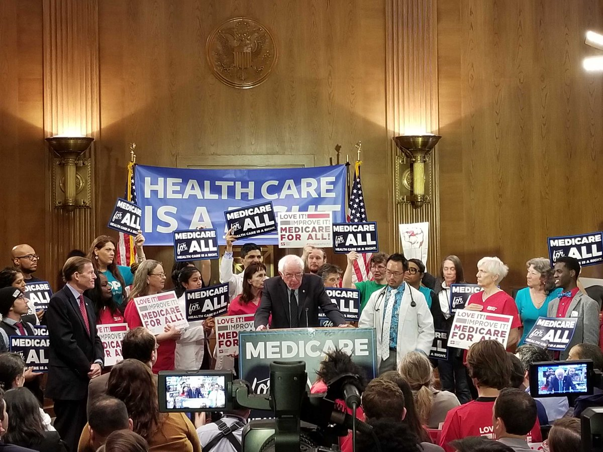 34 million Americans do not have health insurance, and thousands die each year because they cannot afford medical care. Today we reintroduced #MedicareForAll so that every American can get the health care they need.