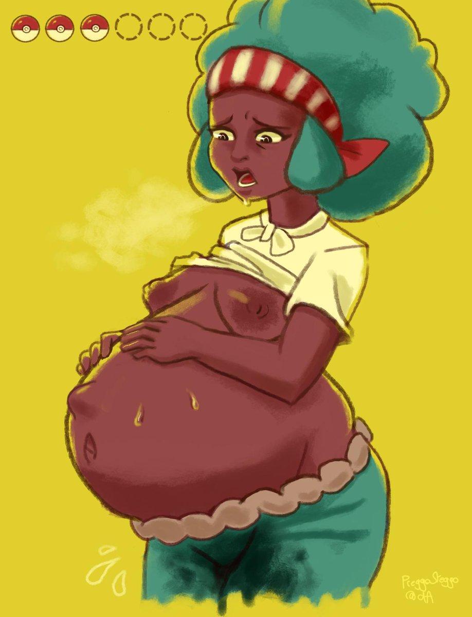 Hentai Pregnant Anime Porn a wild lenora appeared and used splash #pokemon #pregnant