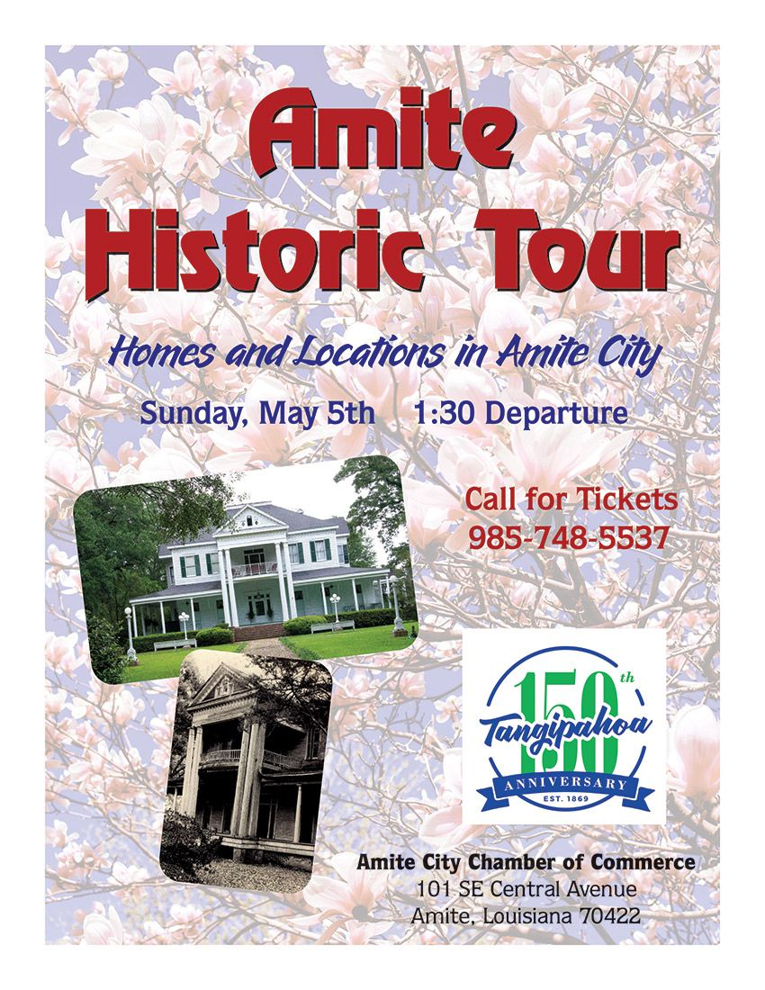 "Amite was almost named ""Fillmore.""   A deadly cyclone ripped through town in 1908!  Learn facts like these and much more during the Amite Historic Parade Of Homes And Place on May 5!  https://buff.ly/2InDLSx  #amitelouisiana #funfacts #luvurtown #teamtangi #walksdownmemorylanepic.twitter.com/AHZly5ushC"