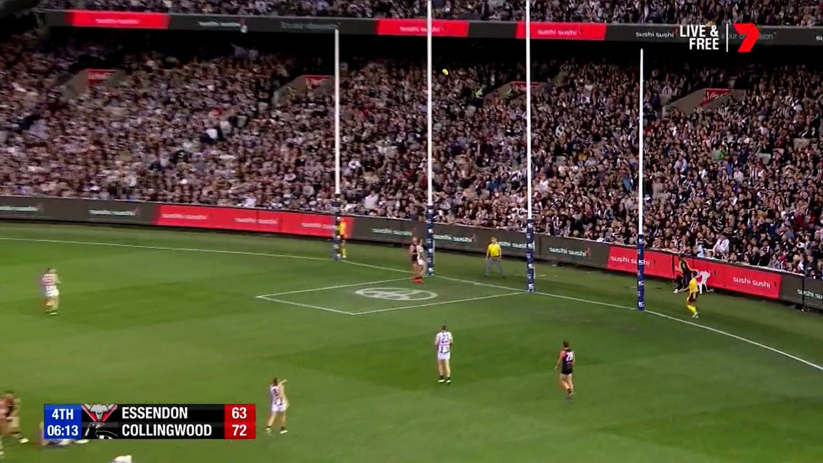 Key forwards shouldn't be able to sell candy and finish like this!  Joe Daniher's got four!  #AFLDonsPies