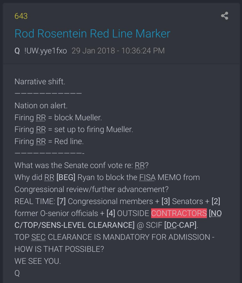 """These are the kind of Q proofs that are almost eerie. Today Joe D. tells the world about """"4 FBI contractors"""" spying for 4 years prior to 2016.   This Q drop is from Jan of 2018.  @LisaMei62 @trumps_all #qanon @JuliansRum"""