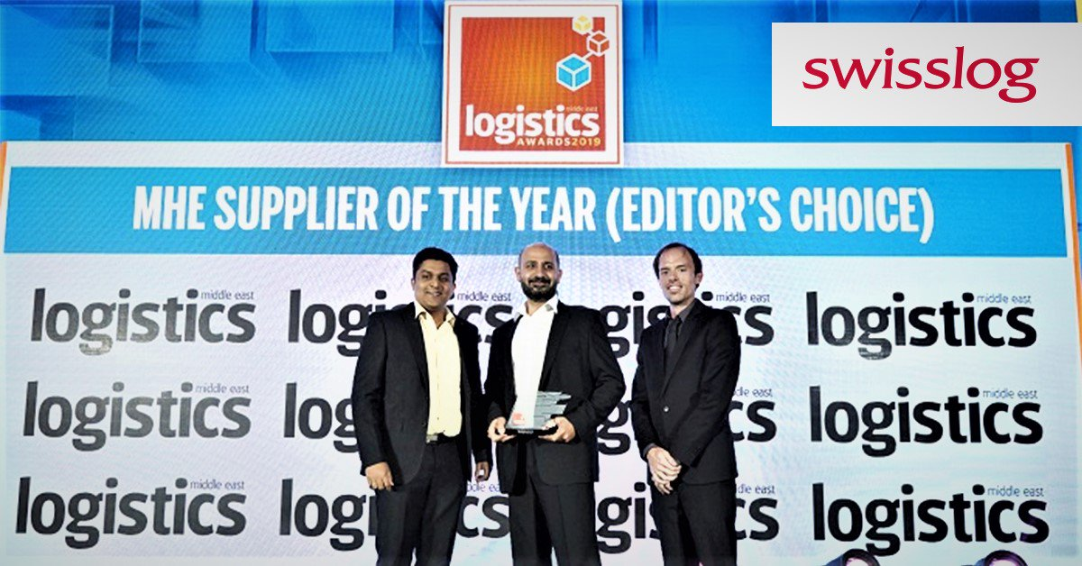 We are honoured to be named MHE Supplier of the Year at @Logistics__ME awards. Swisslog was recognized for its complete solutions from consulting, to project implementation, customer service, best-in-class technologies &amp; software. #LogisticsMEAwards  https:// bddy.me/2UE125d  &nbsp;  <br>http://pic.twitter.com/gsaSQpA86G