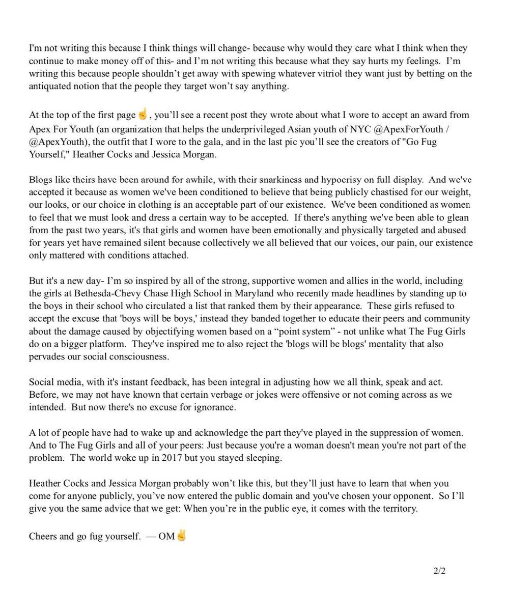olivia munn on twitter a short essay on the ugly behaviors of the  olivia munn on twitter a short essay on the ugly behaviors of the  fuggirls