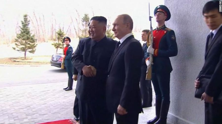 Russian President Vladimir Putin and North Korean leader Kim Jong Un have met for the first time in Vladivostok, Russia. Live updates:  https:// cnn.it/2XO1H6b  &nbsp;  <br>http://pic.twitter.com/0fxi7So5Gt