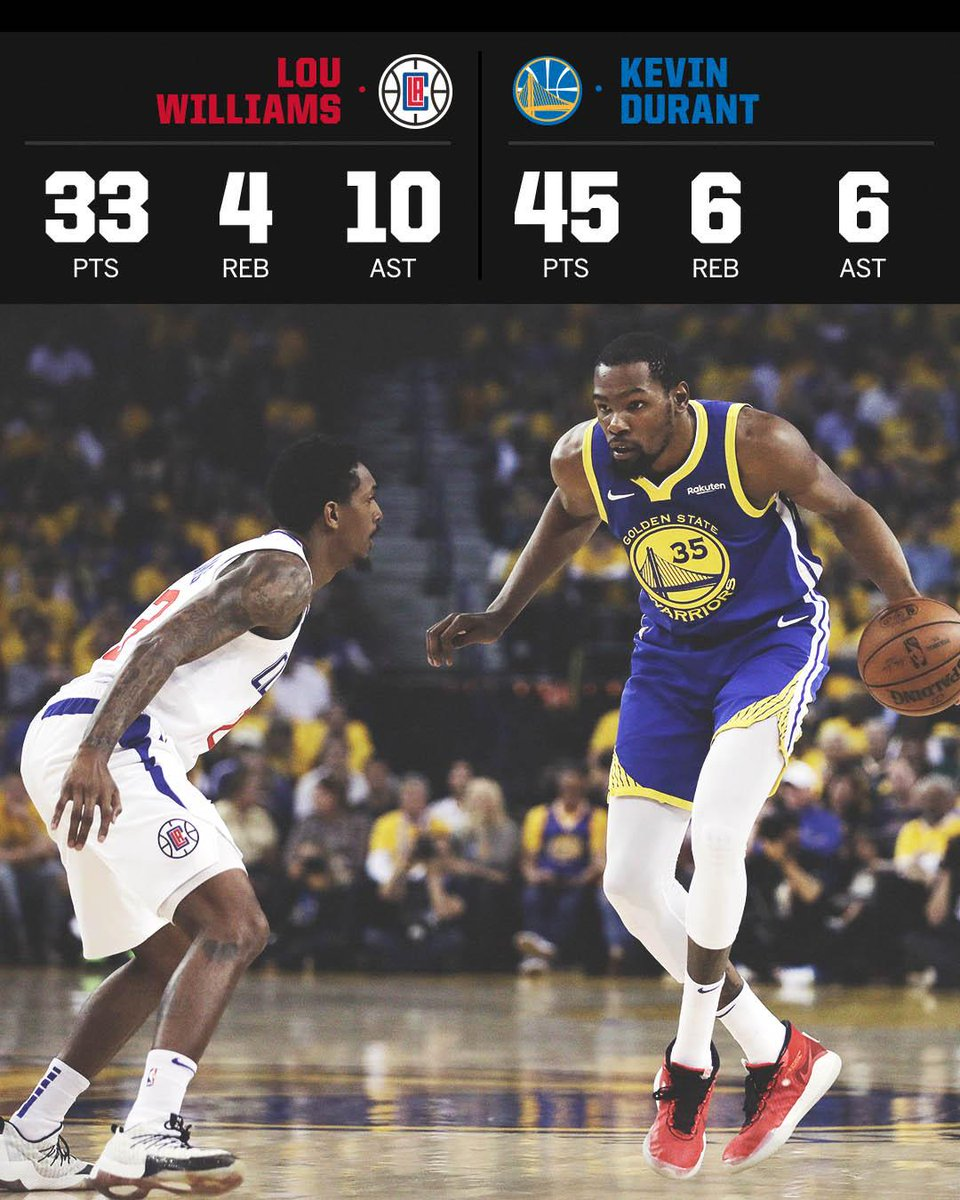 KD dropped 45, but Lou Will was too clutch 🔥