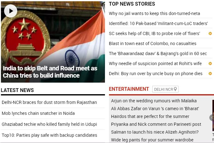 Take a look at all the top stories at this hour on http://timesofindia.com