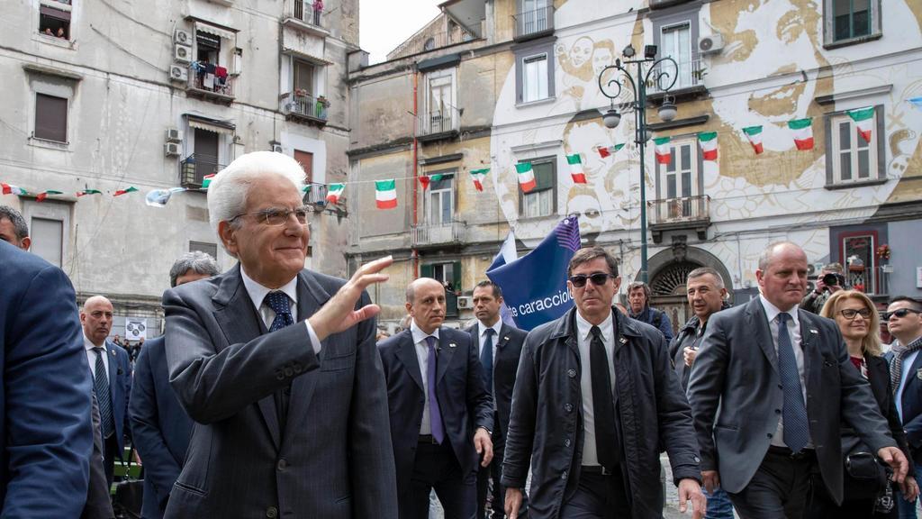 Venticinque aprile, la visita del presidente Matta...