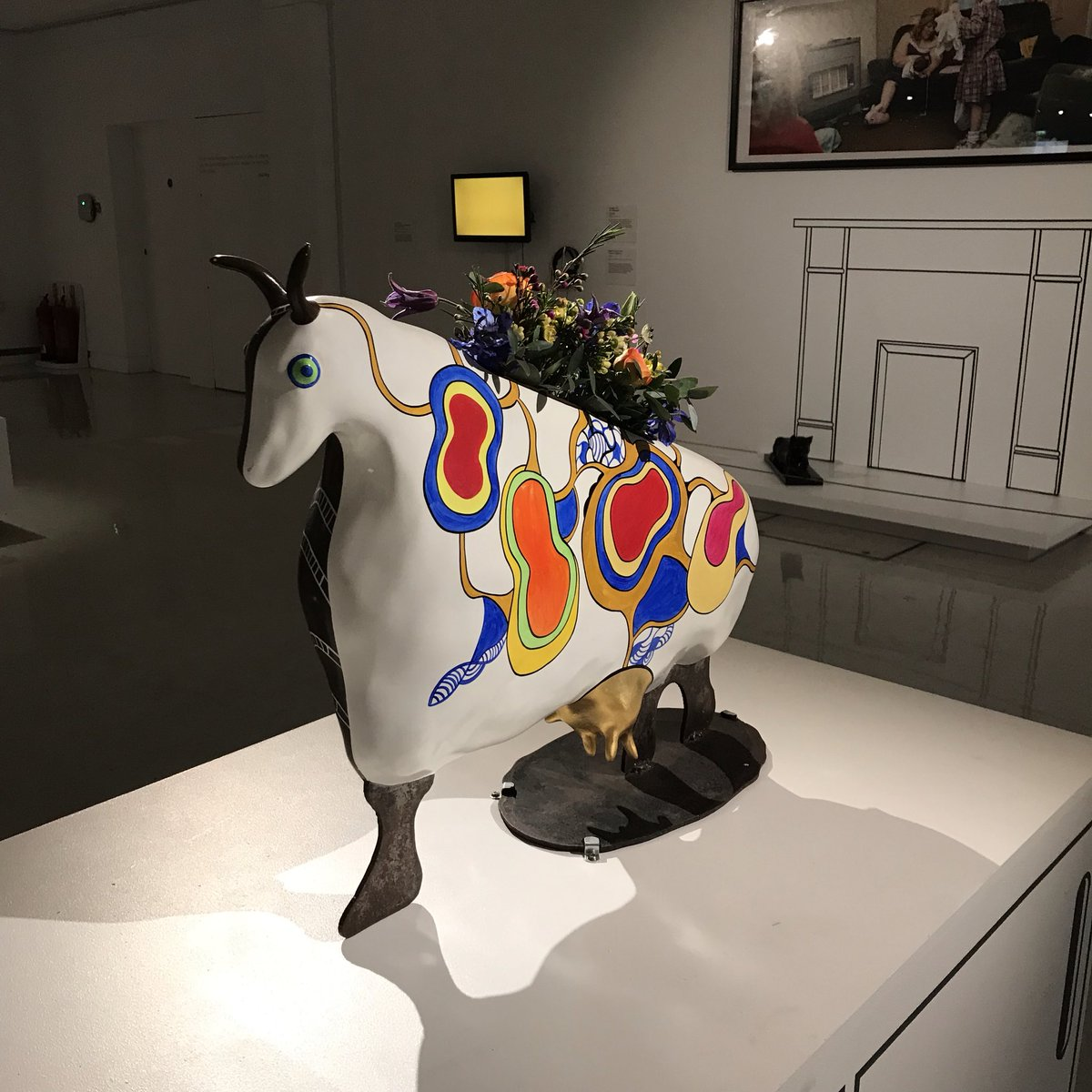 Also appears with flowers #VacheVase #DomesticBliss #NikideSaintPhalle <br>http://pic.twitter.com/wj2JguCaIs