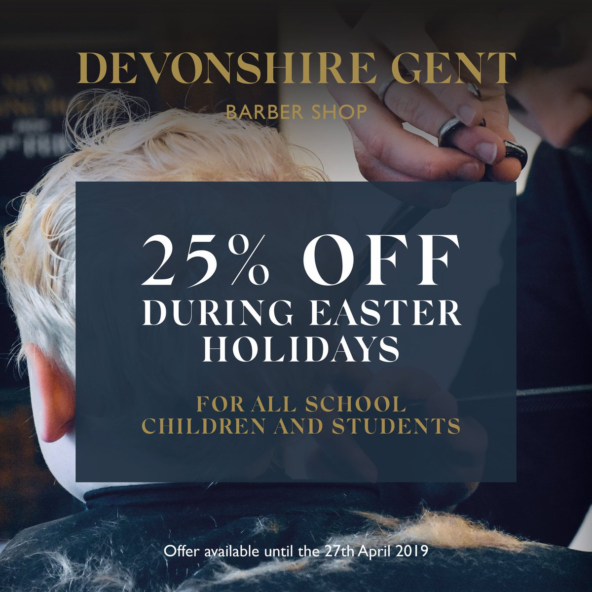 It's still 25% OFF junior and student haircuts all this week at the Devonshire Gent so be sure to come in during the spring school holiday break! #Harrogate #barber #harrogatebarbers #familybarber #springholidays #harrogateschoolspic.twitter.com/1E7DK074Xq
