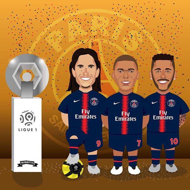 El PSG y su título de liga en Francia! Con éste ya son 8 campeonatos ganados, dos menos que el #assaintetienne y uno menos que el #olympiquedemarseille 🏆🇫🇷 #ligue1 #psg #edinsoncavani #kylianmbappe #neymarjr http://bit.ly/2GD4fhx