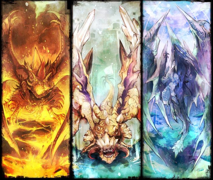 過去から現在のものまでお気に入りの絵たちを #ドラゴンの日