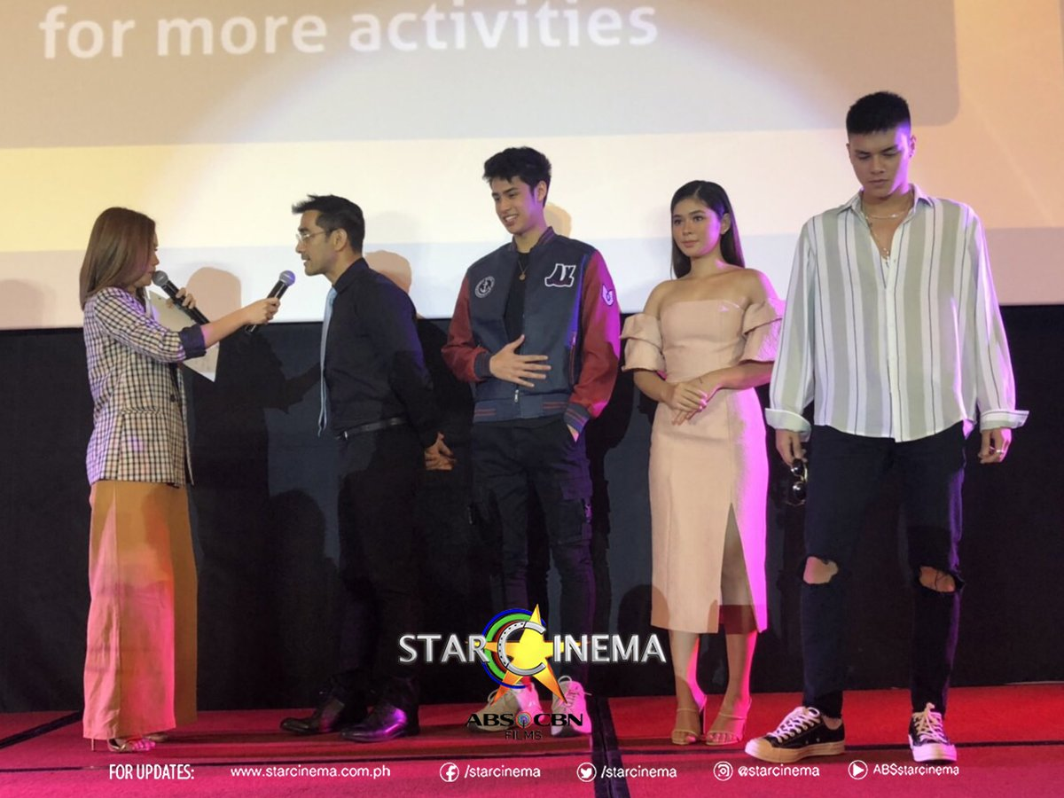 The stars of our upcoming films: #JamesAndPatAndDave and #QuezonsGame at the Cinexpo! <br>http://pic.twitter.com/fC3eAMPVoW