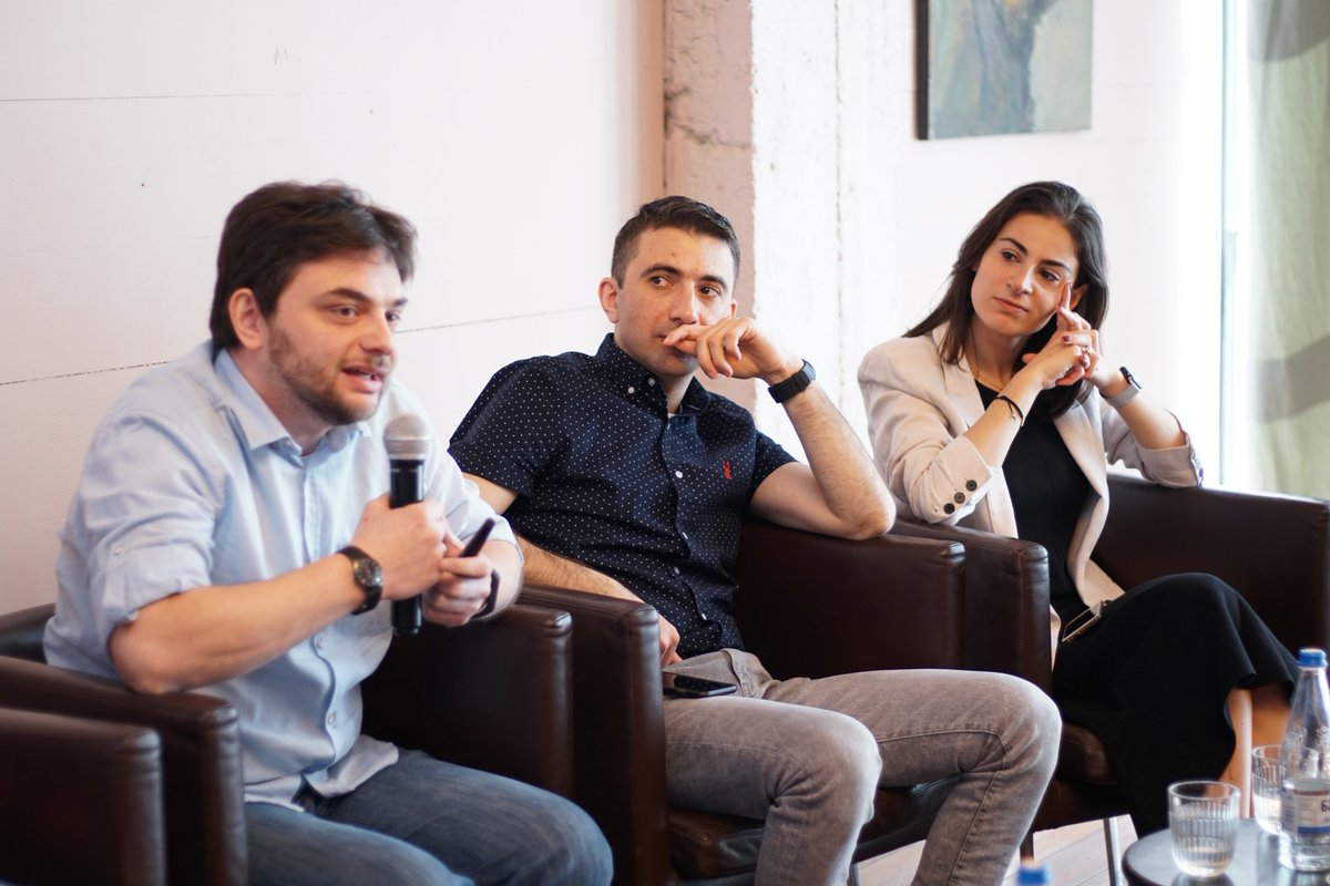 Presentation of @optioai 's innovative products by @giorgobiani alongside other successful startups from #Georgia  at #YGLs (Young Global Leaders) pannel discussion in #Tbilisi #wef19 https://t.co/AL0afbERrt