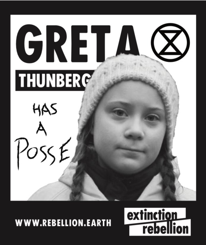 We continue with @GretaThunberg Appreciation Week   (Pic stolen with pride from our friends at @ExtinctionR)<br>http://pic.twitter.com/fVxEUGyjh0