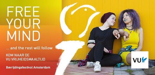 Kom op #Bevrijdingsdag naar het @VrijeWesten020 Amsterdam in het #Westerpark voor de VU Vrijheidsmaaltijd! Verdwaal in het doolhof van #CircusEngelbregt en geniet van heerlijke hapjes. Mede mogelijk gemaakt door @45meiamsterdam. Bestel je ticket via http://www.vu.nl/vrijheidsmaaltijd…