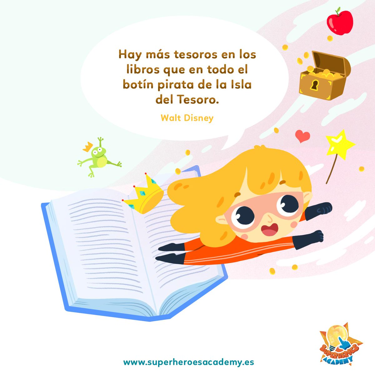 """Superheroes Academy en Twitter: """"Feliz día del Libro a todos, Superhéroes 📖 Cuéntanos, ¿qué libro te estás leyendo ahora? #SuperheroesAcademy #AprenderEsDivertido #AppKids #AppEducativa #DiaDelLibro… https://t.co/HzfF8XFS3Y"""""""