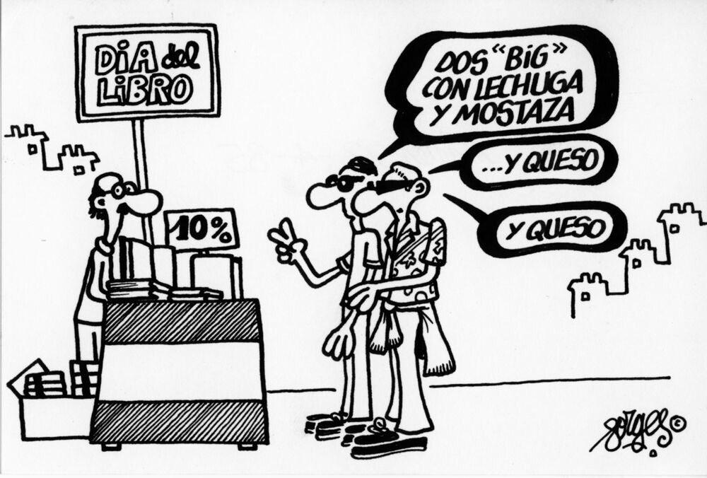 Viñeta publicada en 1985, en Diario16 #DíaDelLibro #23deAbril Sant Jordi