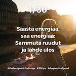 Image for the Tweet beginning: Tänään alkaa #thefeelgoodchallenge! Tässä haasteessa