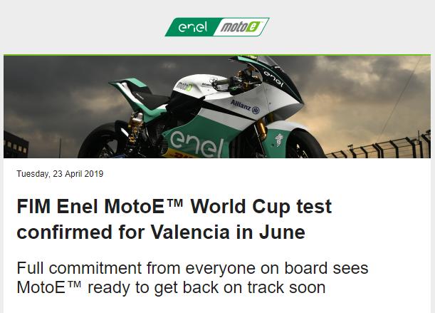 Great news @PramacMotoE. Ready for the 2019 #MotoE season.