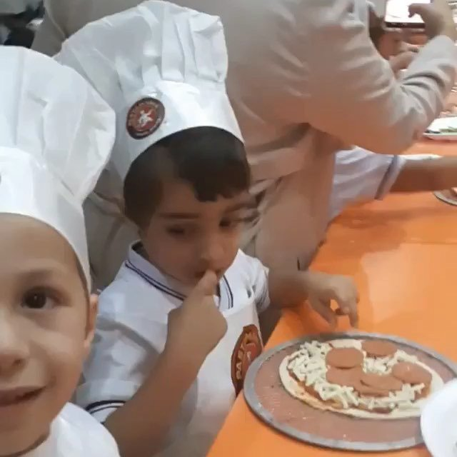#Repost @aisq8_director ・・・ Who wants Pizza? 🍕😃 #aisq8 #kg1 students ready to deliver Pizza to all areas in Kuwait 😉