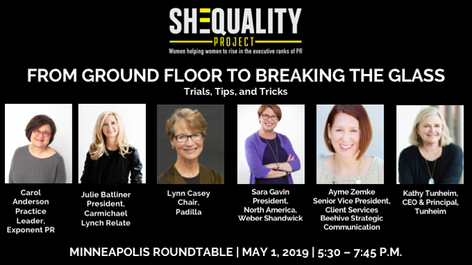 Our president, @JulieBatliner joins fellow #PublicRelations powerhouses to talk about the ways for women to rise in the workplace. See ticket info here: https://t.co/3H5kThqZz4 @PRCouncil #SHEQUALITY