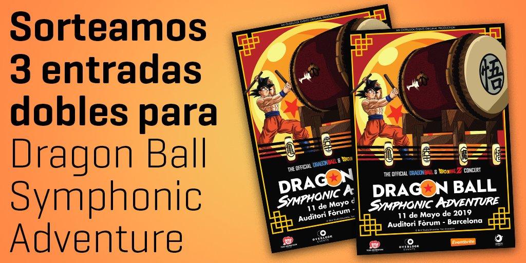 """⚠️TENEMOS SORTEAZO⚠️  Consigue una entrada doble para el concierto de """"Dragon Ball Symphonic Adventure"""" del próximo 11 de mayo en Barcelona gracias a nuestros amigos de @oronetaevents:  - Síguenos en @BandaiNamcoES  - Haz RT 🔁 - Menciona a que amig@te llevarías al concierto."""