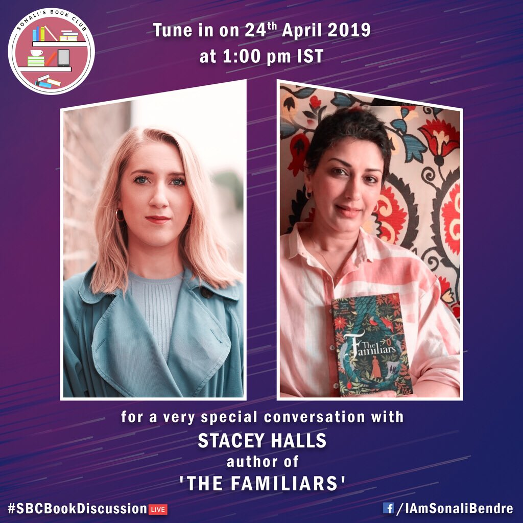 What a book this was! The Familiars by @stacey_halls was - as they say - an 'unputdownable' book. I'm really looking forward to our #SBCBookDiscussion, for which we'll have the author with us too! Don't forget to tune in with your questions tomorrow at 1pm IST.  @HarperCollinsIN