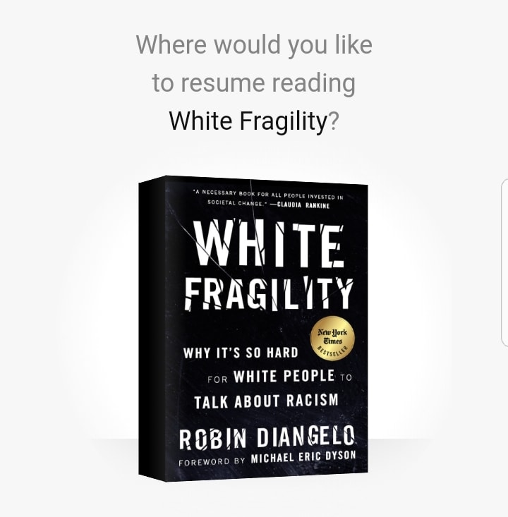 "Yes, literally everything is about race yet many white people refuse to acknowledge it. This book is a great primer for white people, especially ""reverse racism"" types & those who claim they were ""raised to treat everyone equally"". No. All Americans learned the hierarchy."