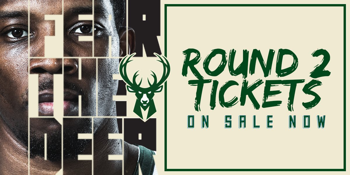 RT @Bucks: Bucks vs. Celtics.  Get tix NOW at https://t.co/FxYewp0fI7  #FearTheDeer https://t.co/r2Vssm5XjG