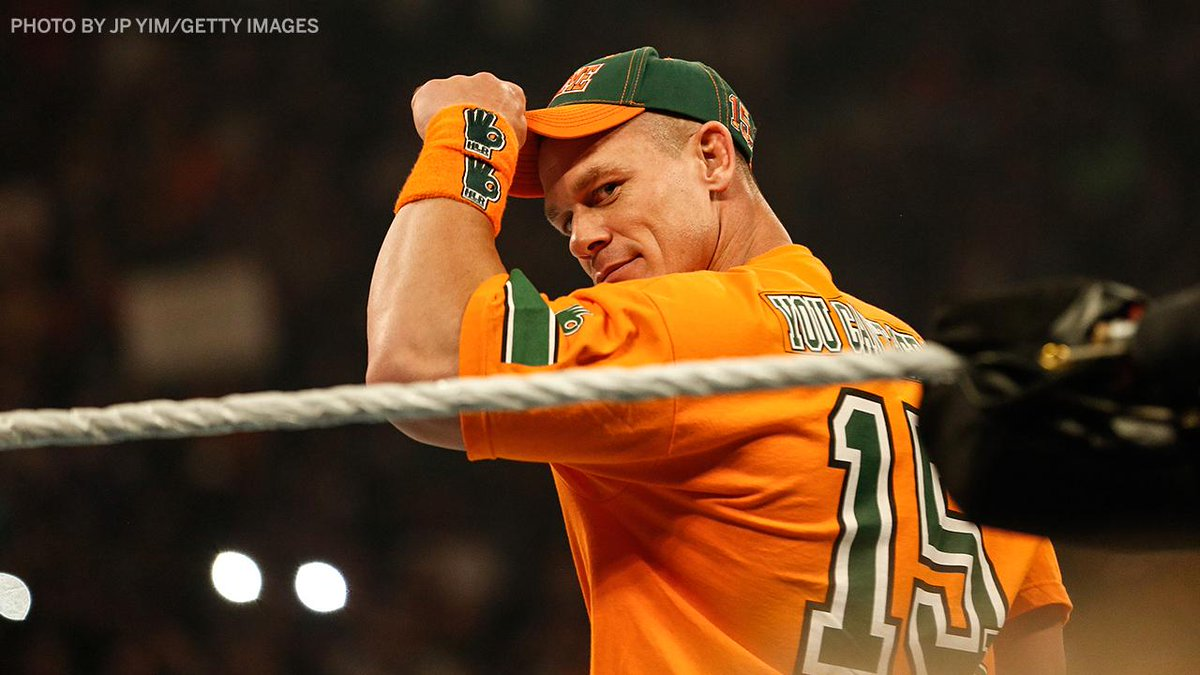 Happy 42nd birthday to the legend, @JohnCena 💪  - 16-time World Champion (tied with Ric Flair for most all-time) - Fulfilled over 600 wishes for the Make-A-Wish Foundation, more than any other single individual. - The only man we still can't see 🤚