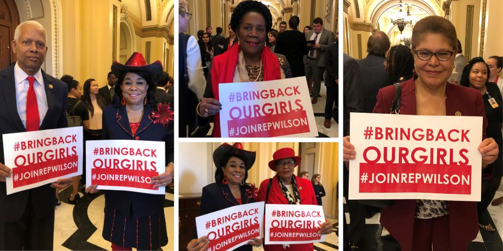 Grateful to have the continued support of my colleagues in Congress as we fight to secure the safe return of the 112 still-missing #ChibokGirls. #BringBackOurGirls