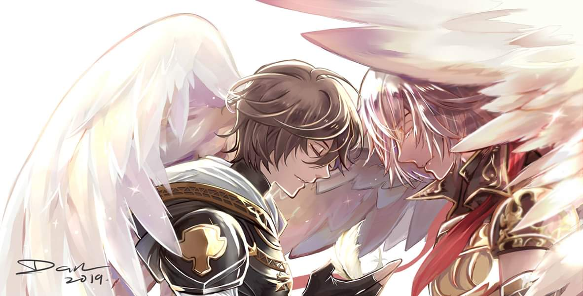 Lucifer and Sandalphon from Granblue Fantasy: What Makes the Sky blue, based on the  Sandalphon Ain Soph Aur character song MV.  GBF Holographic Foil Washitape probably for both SMASH n CAFKL in July (if I got booth) #gbf #wmtsb3 #lucisan #GranblueFantasy #グランブルー  #碧藍幻想 <br>http://pic.twitter.com/DxF6jsQcru