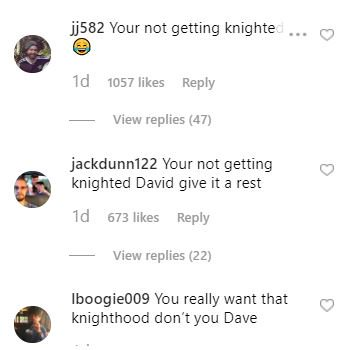 Really enjoying the instagram replies to david beckham wishing the queen a happy birthday