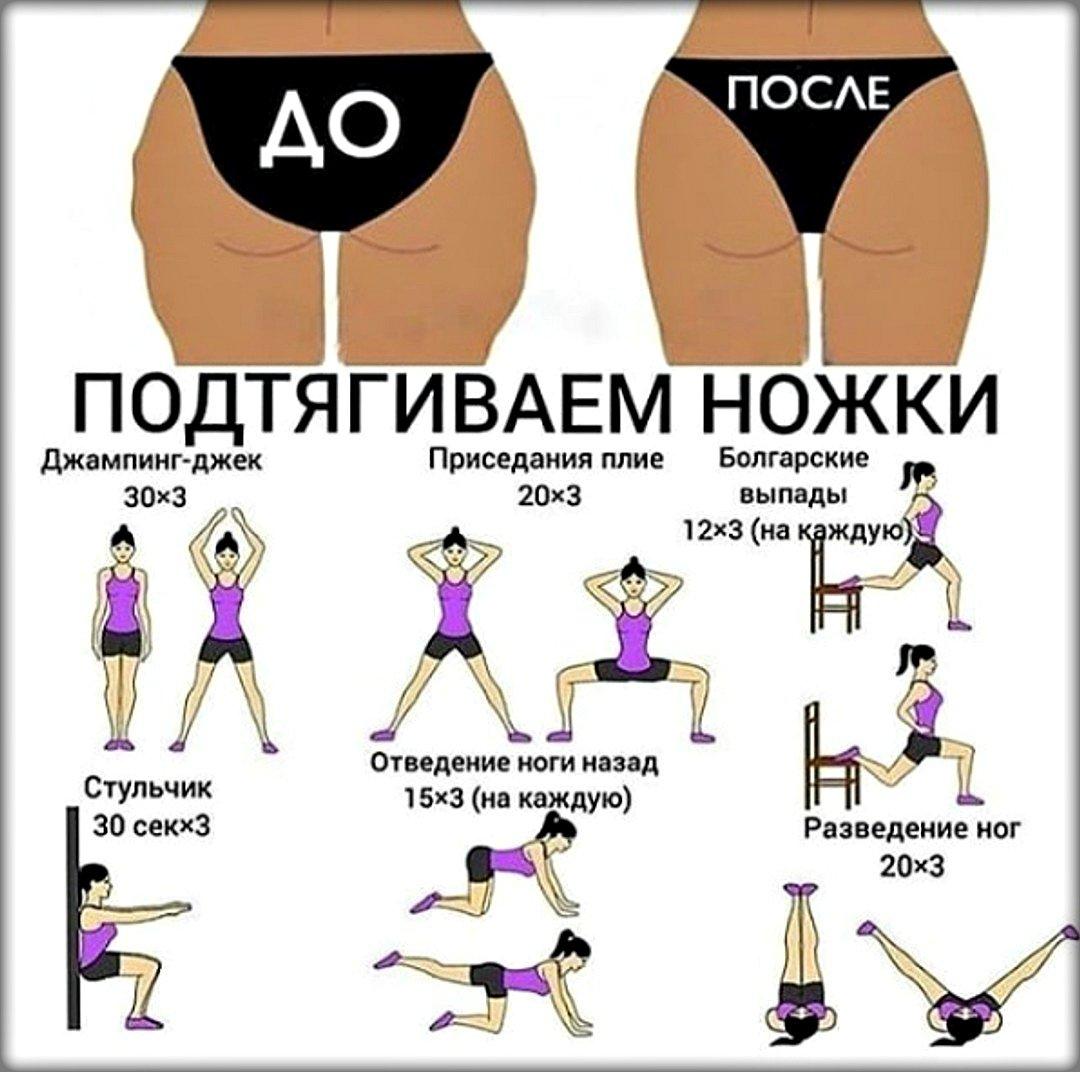 Упражнение для похудения ляшек дома