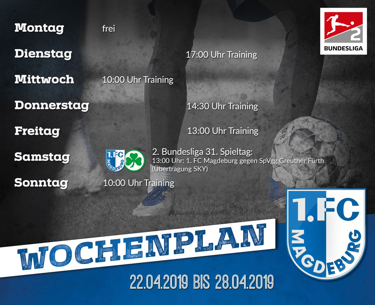 1. FC Magdeburg's photo on start in die woche