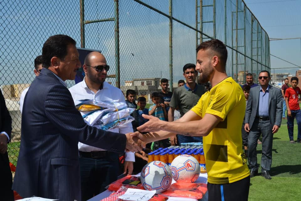 test Twitter Media - Congratulations to our #Dohuk team who've arranged a #football tournament for displaced people living in Khanke camp in #Kurdistan #Iraq. #sport4change #sportfordevelopment https://t.co/tYrJmPFXtc