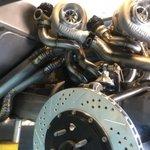 A side angle of the #1BADBURBAN Quad Mirrored Garrett Motion GTX3071R GEN II Turbocharged dry sump LS7. @GarrettMotion #TurboLifePhoto by @austinweiss
