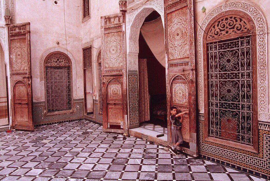 Morocco, Fez. (1999) Interior of Traditional house. Source - unknown