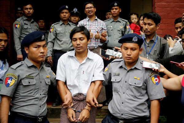 Shameful - Myanmar's Supreme Court upholds 7-year jail term for #PulitzerPrize winners Wa Lone & Kyaw Soe Oo of @Reuters. Shows how democracy is going wrong under Aung Sang Suu Kyi, says @hrw's @Reaproy #FreeWaLoneKyawSoeOo nytimes.com/2019/04/23/wor…