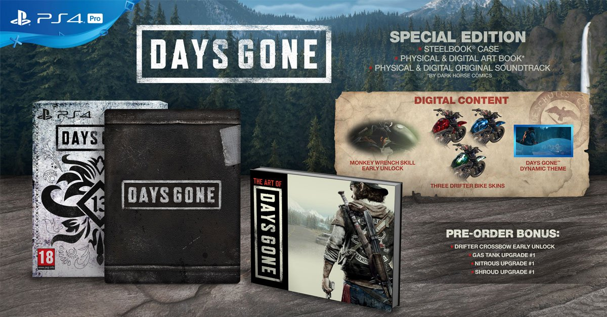 *COMPETITION ALERT* Want to be in with a chance to win a copy of PS4 Days Gone Special Edition? To enter: please Follow, Retweet and Share!! FIVE lucky winners will be announced on the morning of Thursday 25th April - Good luck everyone