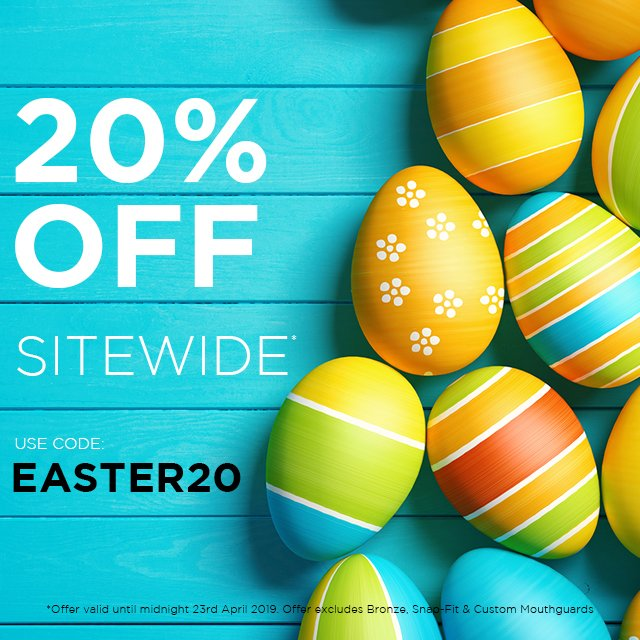 It may be #StGeorgesDay but we wouldn't want you to miss out on our amazing #Easter #Sale 20% Off a New #OPRO #Mouthguard Ends Midnight Tonight!!!  Shop Now - http://OPROMOUTHGUARDS.com