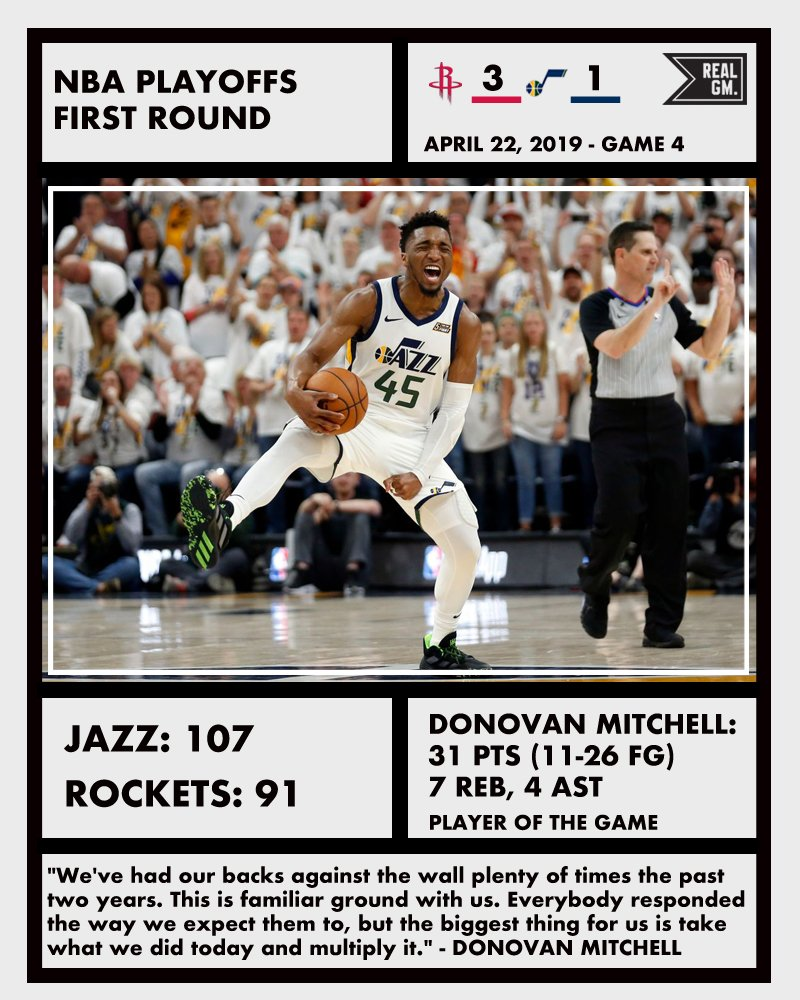 Houston Rockets Depth Chart: NBA Playoffs Snapshots (April 22): Bucks/Pistons, Jazz