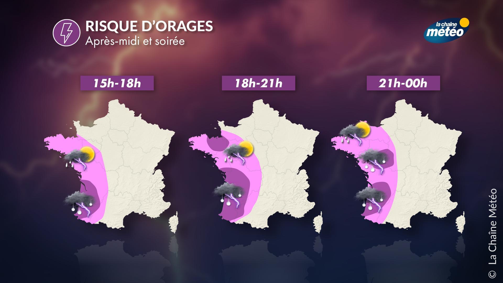 En images ! #alertemétéo #vigilancejaune #orages #grêle #pluies #gironde #ouest #france twitter.com/lachainemeteo/…