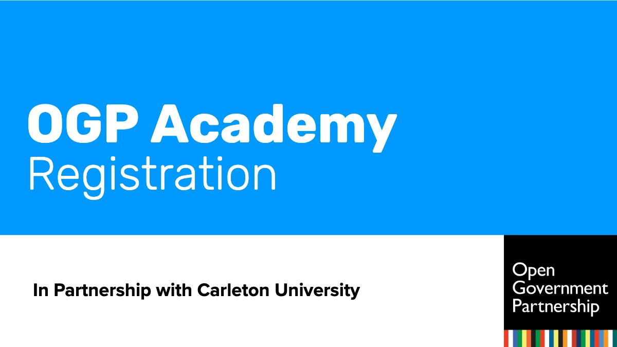 OGP and @Carleton_U are pleased to convene #OGPAcademy19, the second academic conference on #OpenGov, at the OGP Global Summit in Ottawa, Canada 2019. Register here: https://bit.ly/2HGCZk9 #OGPCanada