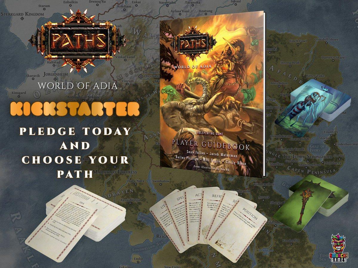 Paths: World of Adia is live on Kickstarter! 🤯🤩🤯🤩 https://www.kickstarter.com/projects/smunchygames/paths-world-of-adia-tabletop-rpg… #ttrpg #dnd5e #dnd #pathsrpg #faterpg #tabletopgaming #rpg #tabletoprpg #boardgames #bgg #boardgamegeek #Kickstarter